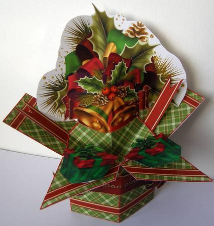 3D Pop Up Box Christmas Bells CUP575623173 Craftsuprint