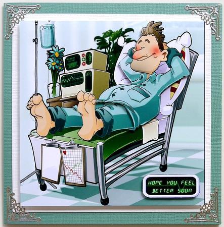 Get Well Soon Dude Ii 8x8 Card CUP284841437 Craftsuprint