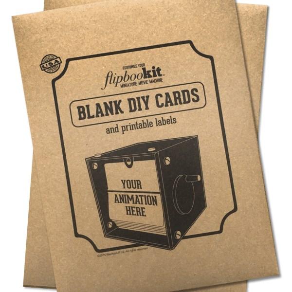 Blank animation cards FlipBooKit Flip book DIY Craft project