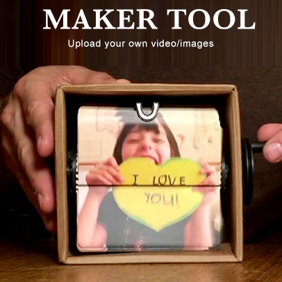 Flipbookit make flip book animated machines gifts and crafts flipbookit is a diy movie machine that easily displays your video or animated art in a hand cranked flip book solutioingenieria Choice Image