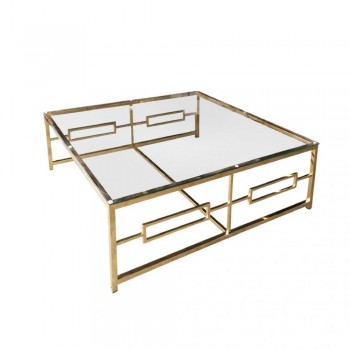 box frame gold coffee table 12804