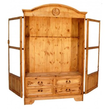 MILLION DOLLAR RUSTIC 12 Gun Star Cabinet 05110212TX Gun Cabinet Quality Furniture