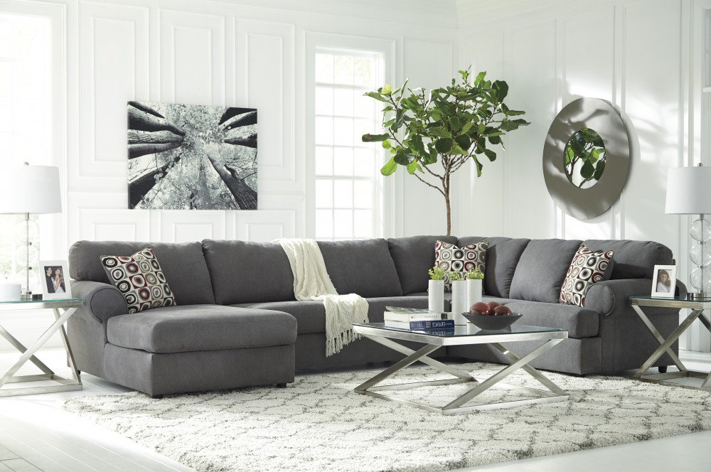 Jayceon Steel 3 Pc LAF Corner Chaise Sectional 64902