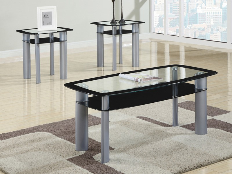 metro coffee table and 2 end tables