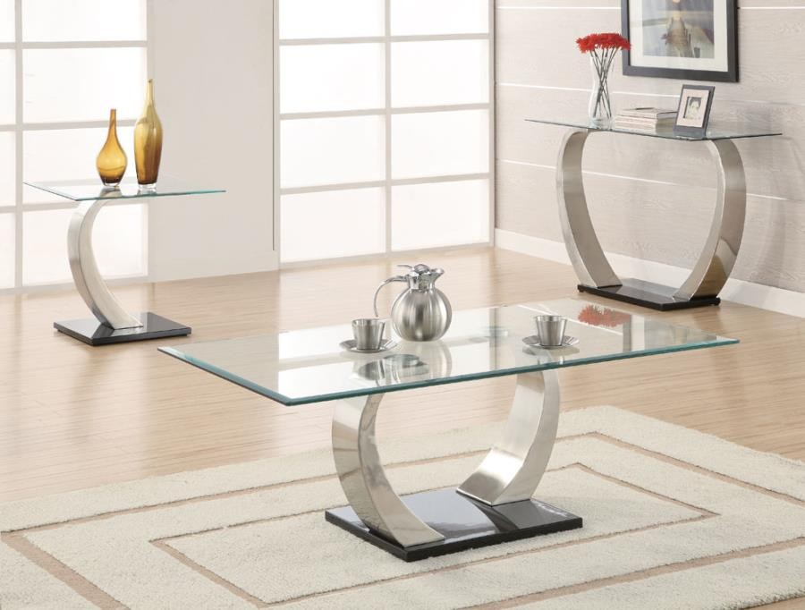 living room glass top occasional tables contemporary coffee table