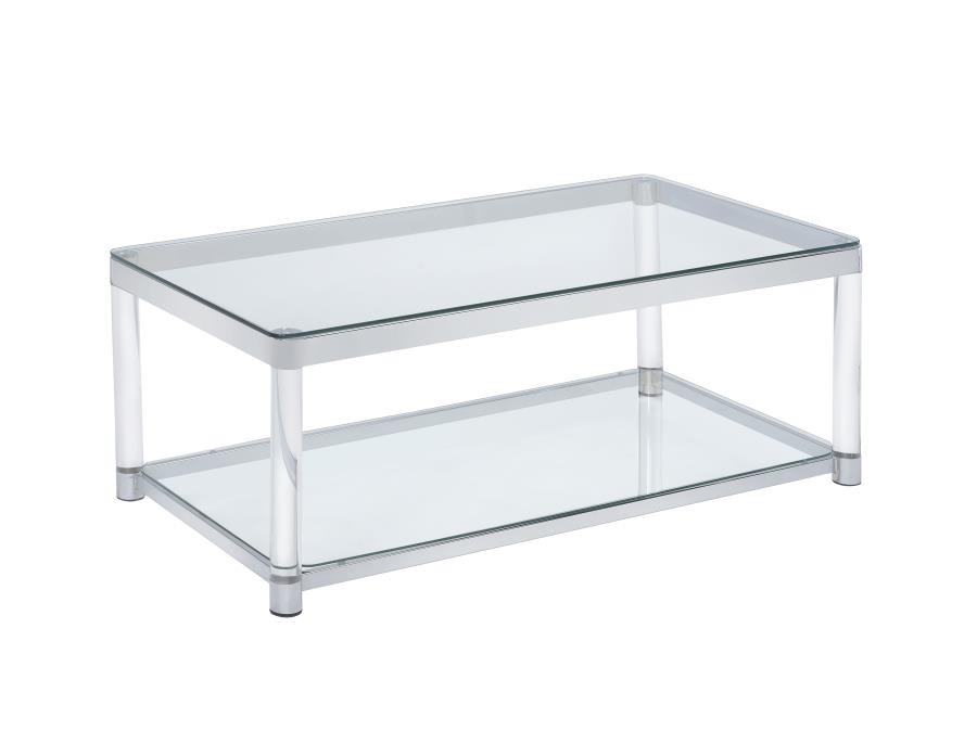living room glass top occasional tables contemporary chrome coffee table