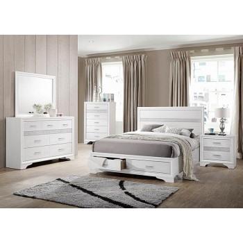miranda collection miranda contemporary white queen storage bed