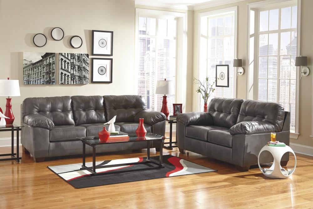 Alliston DuraBlend Gray Sofa Amp Loveseat 201023538