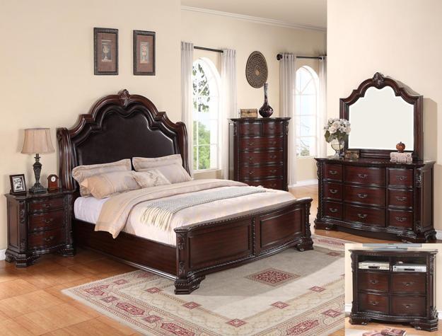 crown mark b1100 sheffield queen bedroom group