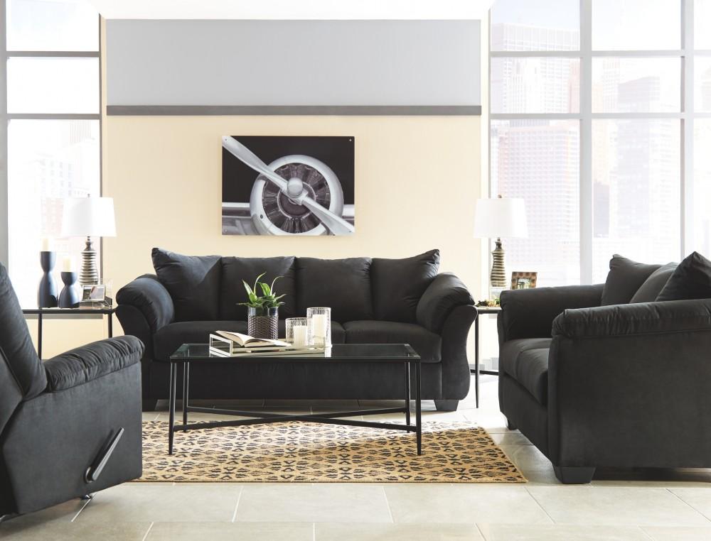 Darcy Black Sofa 7500838 Sofas Price Busters