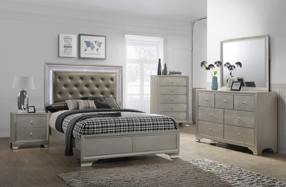 Nikola Bedroom Set Dresser Mirror Queen Bed