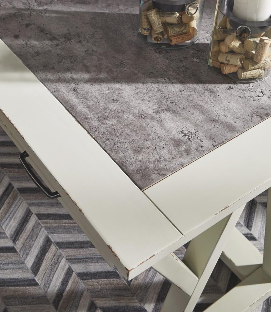 Jonileene WhiteGray Home Office Large Leg Desk H642