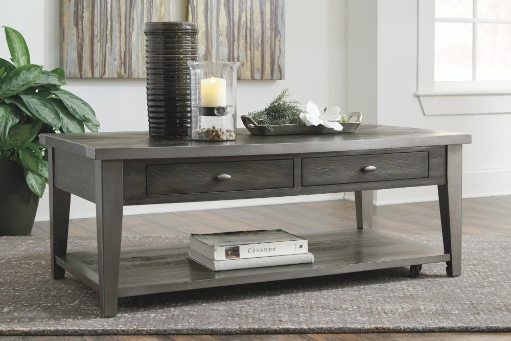 Branbury - Two-tone - Rectangular Cocktail Table