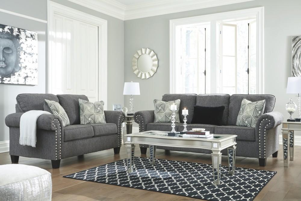 Agleno Charcoal Sofa Sofas Pruitts Fine Furniture