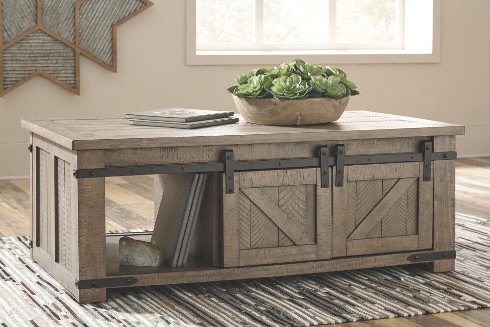 Aldwin Gray Rect Storage Cocktail Table T837 1