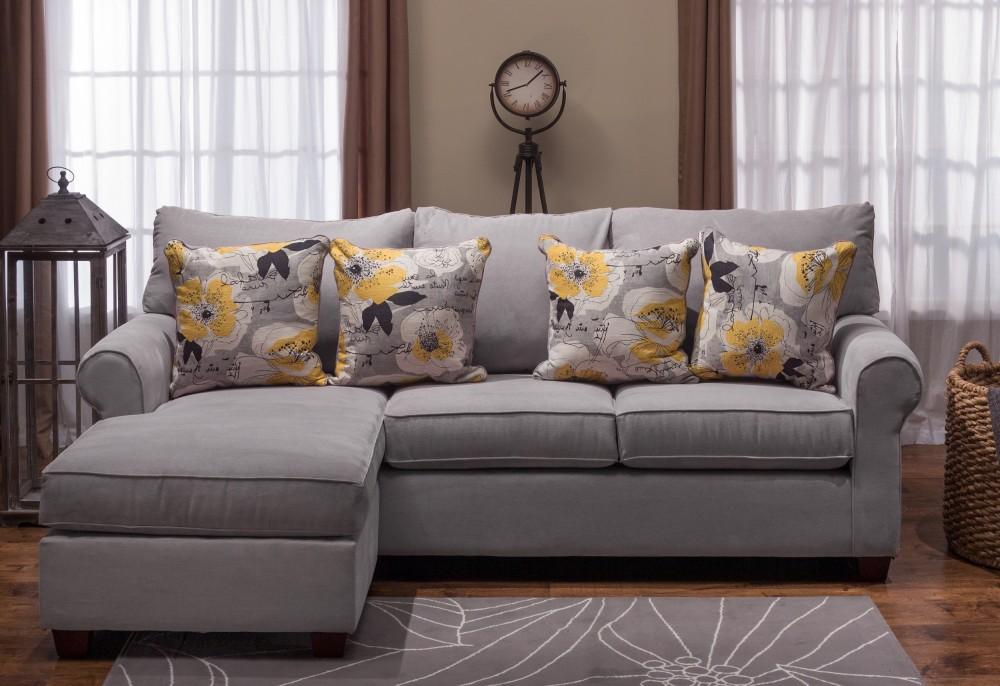 pacific beach sofa chaise atlas grey