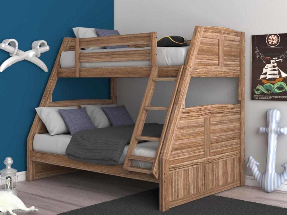 driftwood sand twin over full bunkbed