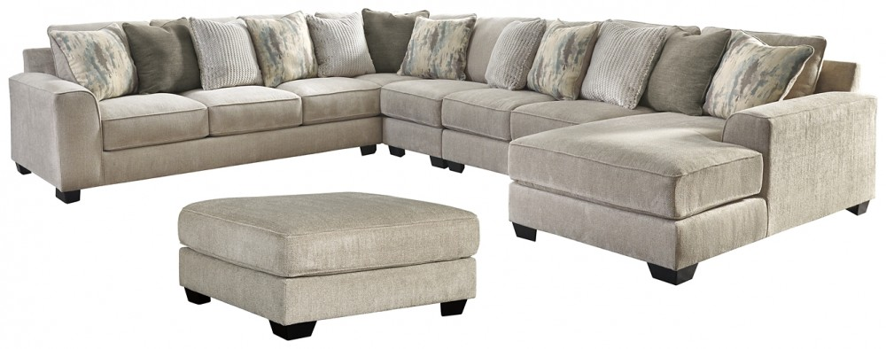 ardsley 5 piece sectional with ottoman