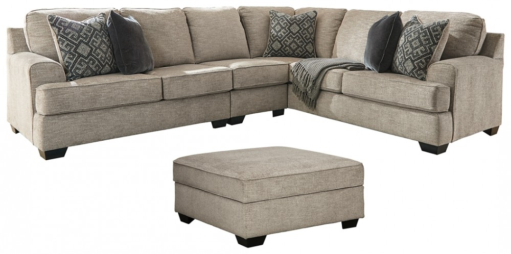 bovarian 3 piece sectional with ottoman
