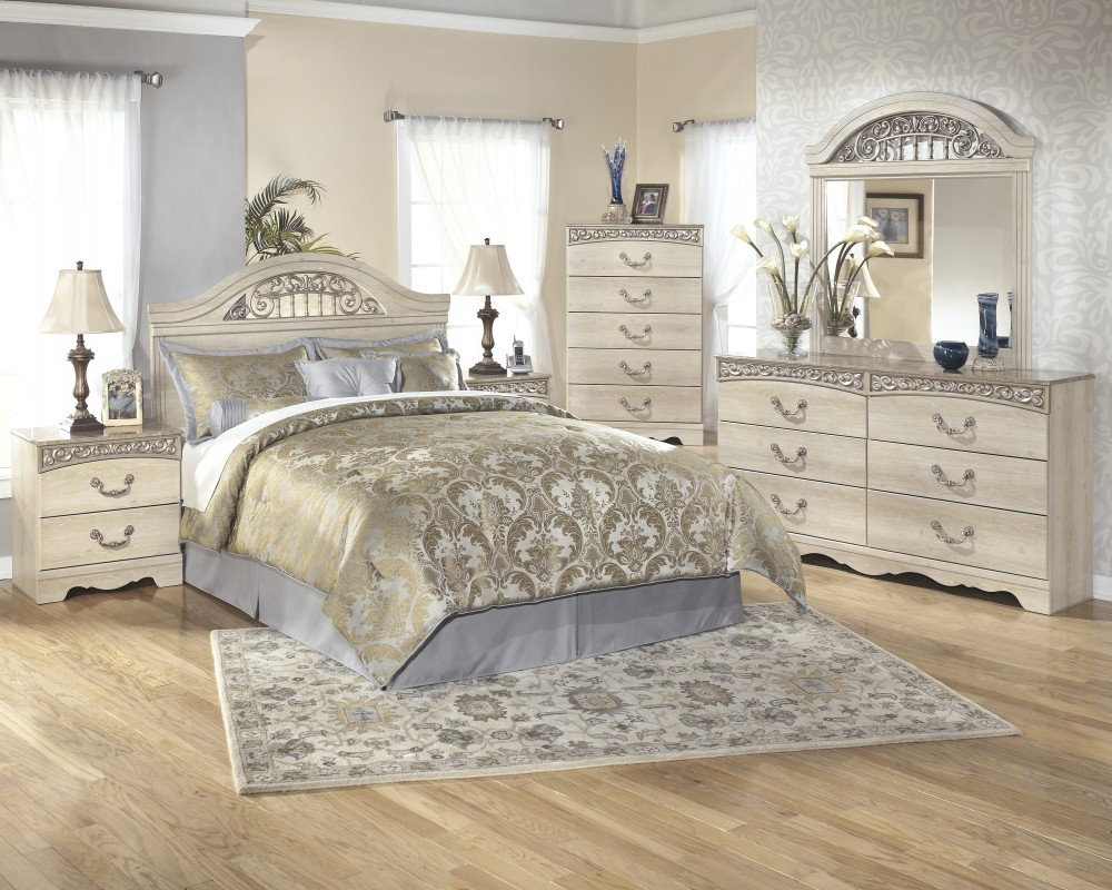 ashley furniture silver bedroom set