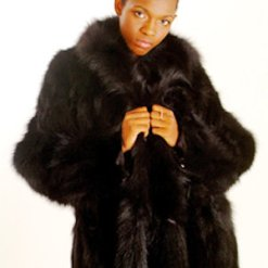 Black Fox Fur Design Jacket