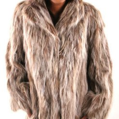 3/4 Sectional Fur Raccoon Jacket Vintage
