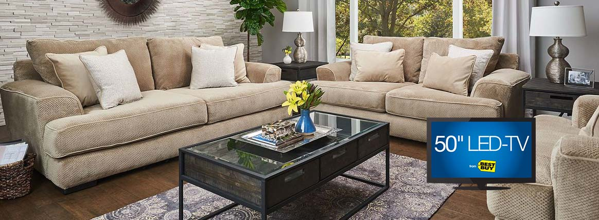 White Living Room Set Sale