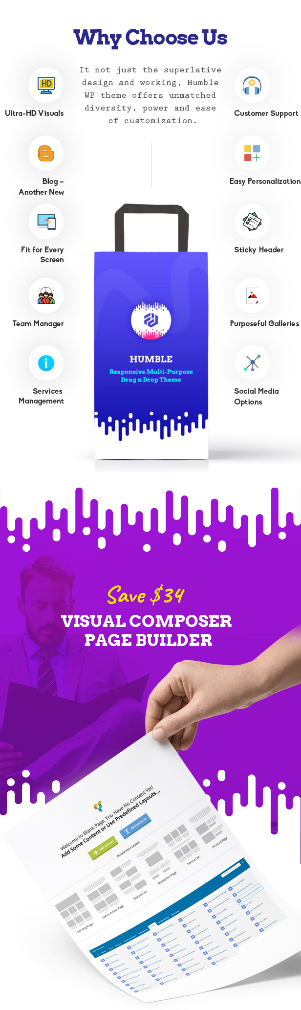 Humble. Responsive Multi-Purpose Drag n Drop Theme - 5