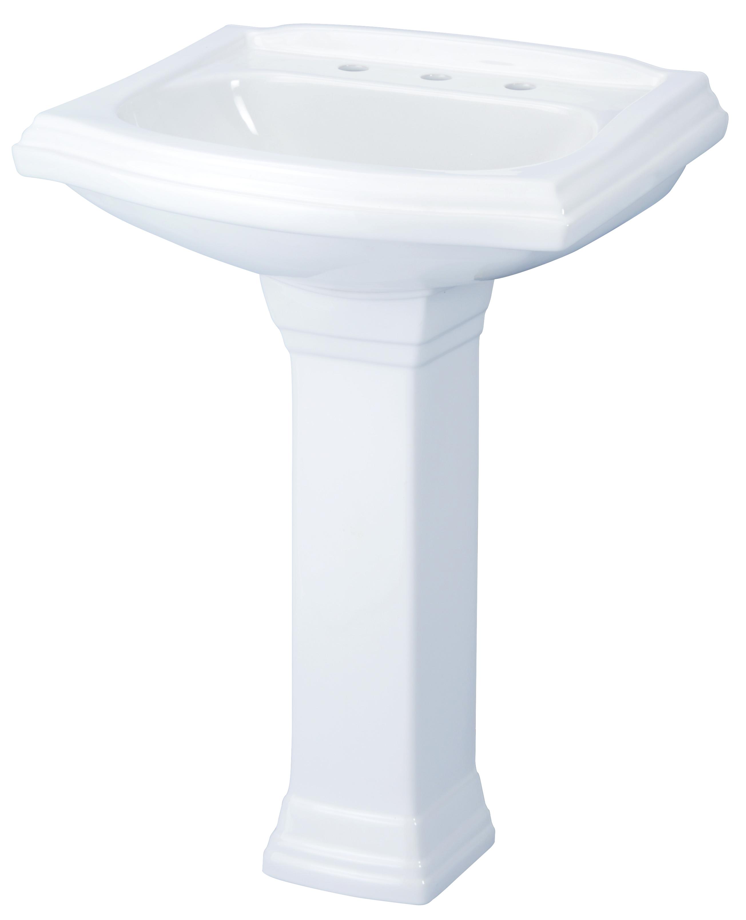 21 Inch Pedestal Sink
