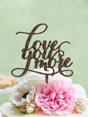 Rustic Love You More Cake Topper