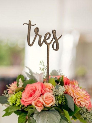 Spanish Table Numbers