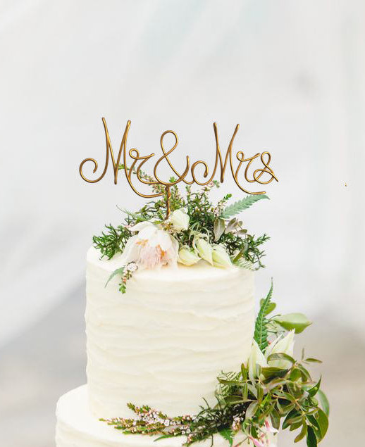 Mr And Mrs Wire Cake Topper