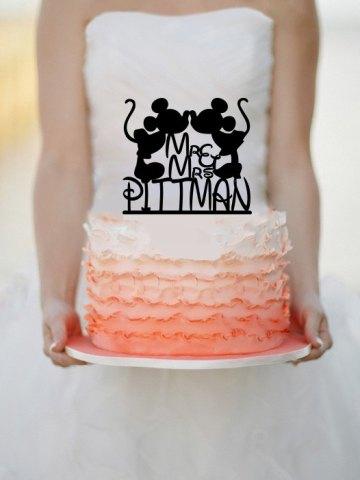 Personalized Cake Topper Disney Theme