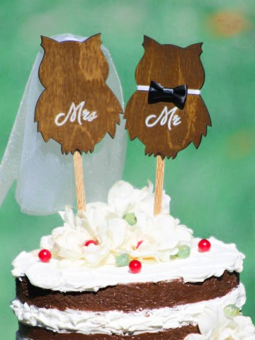 Phenomenal Owl Wedding Cake Topper Personalised Birthday Cards Akebfashionlily Jamesorg