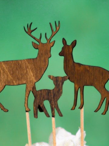 Deer Family Cake Topper