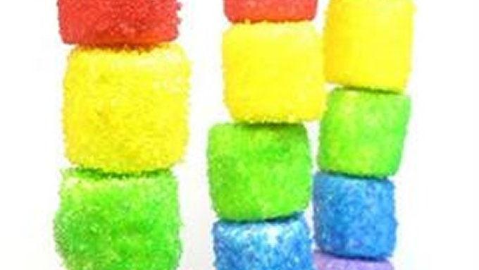 Sparkly Rainbow Marshmallow Kabobs