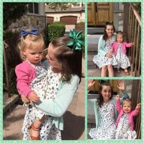 Lauren & Raegan's Easter Dresses
