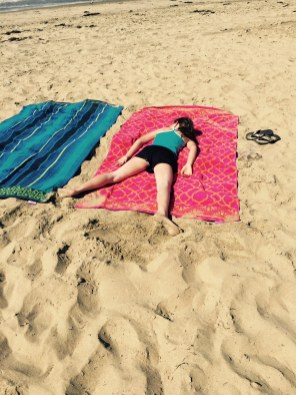 Lauren soaking in the rays