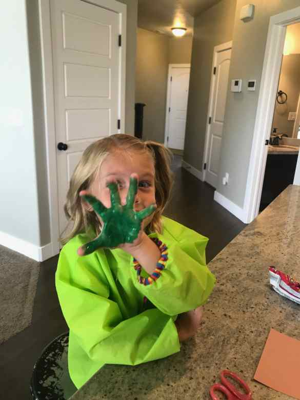 Kids love having their hands painted