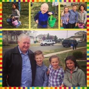 Papa with grandkids & Lauren