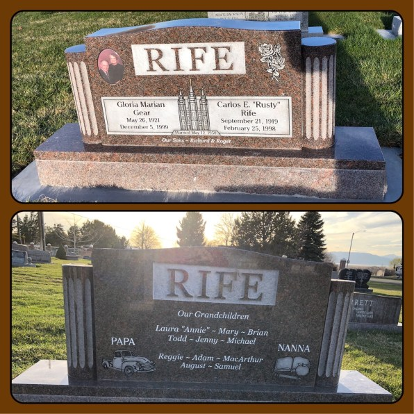 My parents new headstone