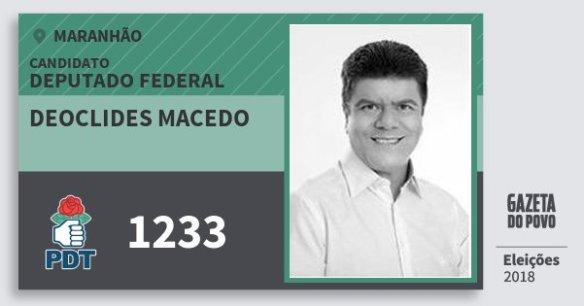 Resultado de imagem para DEOCLIDES MACEDO doPDT