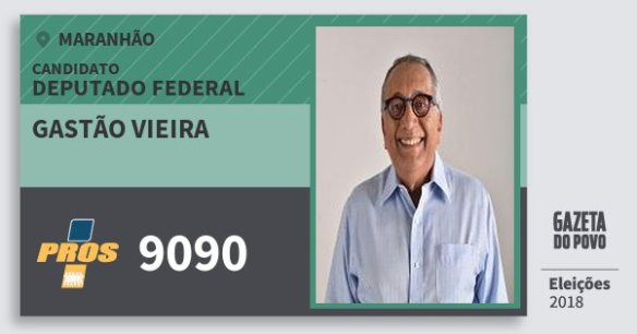 Resultado de imagem para GASTÃO VIEIRA doPROS