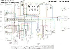 Some KZ 400500550 wire diagrams