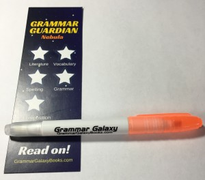 Grammar Galaxy bookmark and highlighter