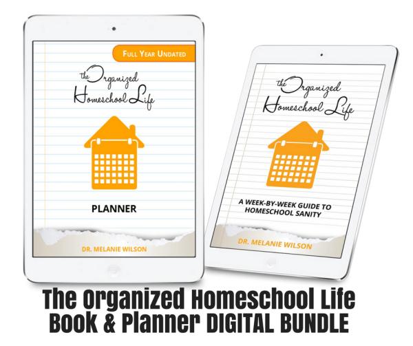 The Organized Homeschool Life Book and Planner Digital Bundle