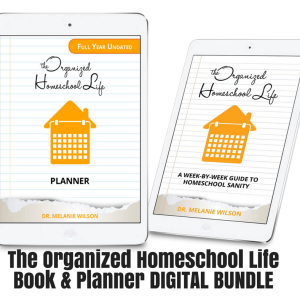 The Organized Homeschool Life Book and Planner Digital Bundle