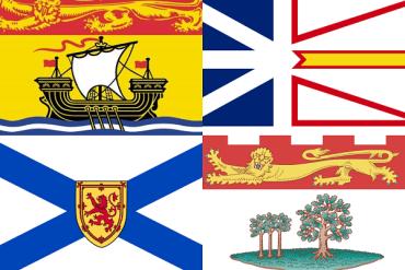 Flags NL, NS, NB, PEI