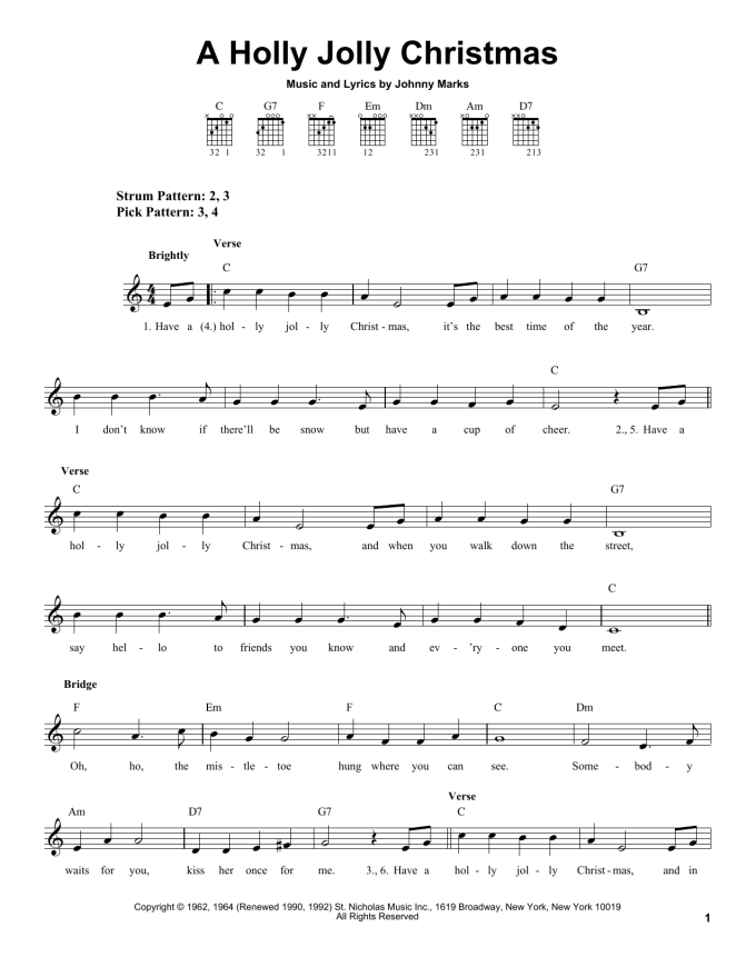 Holly Jolly Christmas Michael Buble Guitar Chords Christmaswalls