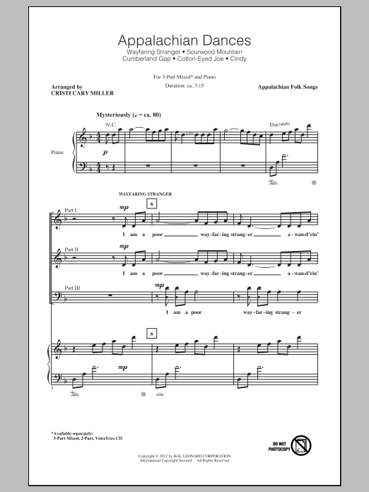 Cristi Cary Miller - Appalachian Dances (Medley) sheet music
